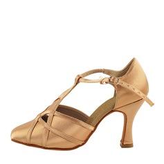 Женщины Атлас На каблуках Бальные танцы Обувь для танцев