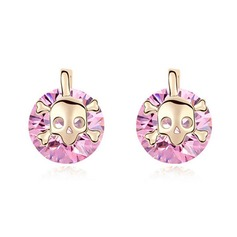 Chic Zircon With Gold Plated Women's Fashion Earrings
