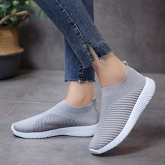 Women's Fabric Flat Heel Flats shoes (086216501)