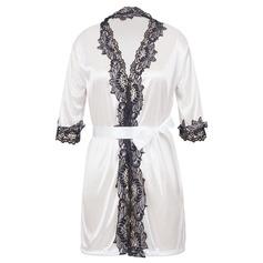 Spetsar/Viskos Fiber Feminin Nattkläder