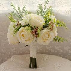 Charme Rond Satiné/Soie Bouquets de mariée -