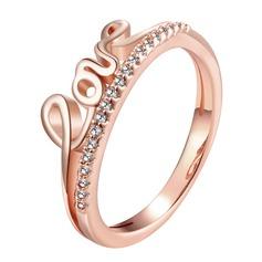 Вечная любовь медь/Циркон женские кольца
