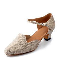 Kvinnor Glittrande Glitter Klackar Latin Dansskor