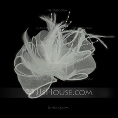 Fancy Feather/Tulle Flowers & Feathers