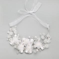 Элегантные сплав с горный хрусталь/искусственный жемчуг женские ожерелья