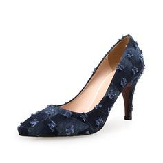 Mulheres Camurça Salto de gatinha Bombas sapatos