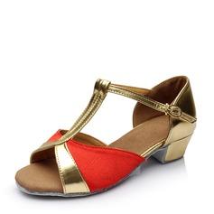 Frauen Satin Flache Schuhe Latin Tanzschuhe
