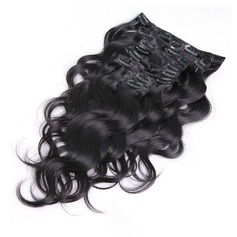 4A Ej remy Kropp människohår Klämma i hårförlängningar 7pcs 70g