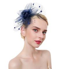 Dames Élégante/Accrocheur/Charme Feather/Fil net avec Feather Chapeaux de type fascinator