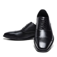 Men's Real Leather Cap Toes Lace-up Dress Shoes Men's Oxfords (259171635)
