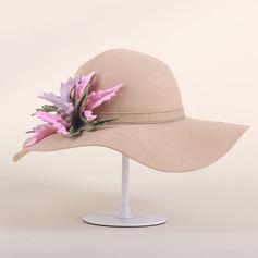женские Элегантные Шерстяные флоппи-Шляпа