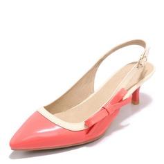 Vrouwen Patent Leather Stiletto Heel Sandalen Pumps Slingbacks met Gesp schoenen