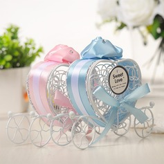Lovely/Heart style Heart-shaped Metal Favor Boxes & Containers/Candy Jars and Bottles With Ribbons