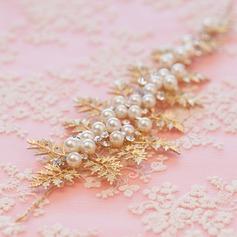 Feuilles en forme Alliage/Perles d'imitation Bandeaux