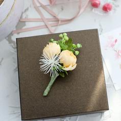 Zurückhaltend Kaskade Seide Blumen Armbandblume/Knopflochblume -