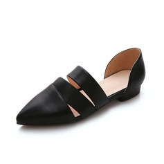 Leatherette Flat Heel Flats Closed Toe shoes