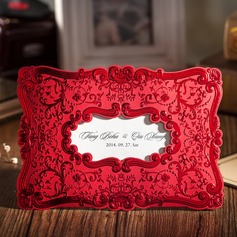 Personalizado Estilo Florais e do bolso Invitation Cards (Conjunto de 50) (114055130)