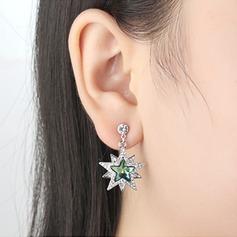 Charme Alliage/Cristal avec Cristal Boucles d'oreilles