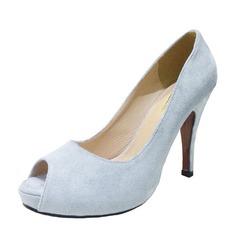 De mujer Ante Tacón stilettos Salón Encaje zapatos