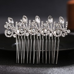 Ladies Shining Alloy Combs & Barrettes With Rhinestone/Crystal