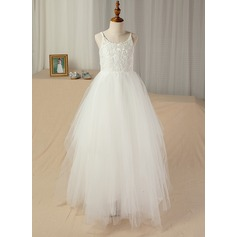 A-Line Floor-Length Junior Bridesmaid Dress