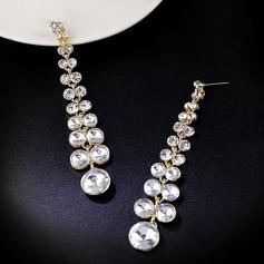 Pretty Aleación/Diamantes de imitación Señoras' Pendientes