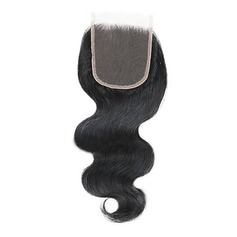 "4""*4"" 4A Nicht remy Körper Menschliches Haar Bedeckung (Einzelstück verkauft) 30g"