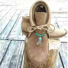 Femmes PU Talon plat Bottes Bottines avec Dentelle chaussures