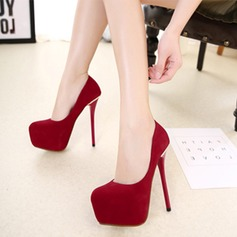 Women's Suede Stiletto Heel Pumps Platform shoes