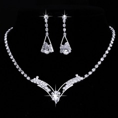 Charme Liga/Strass Senhoras Conjuntos de jóias