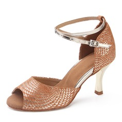 Suede Heels Latin Dance Shoes