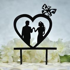 Hjerte/Søt Kjærlighet Akryl Kake Topper