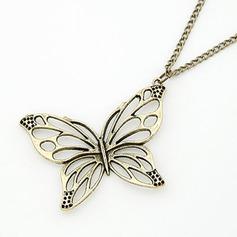 Fjärilsformade Legering Kvinnor Mode Halsband