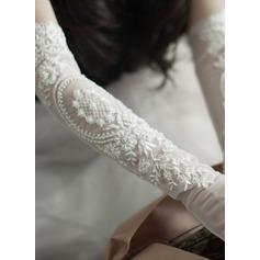 Tyl Elbow Længde Brude Handsker (014203326)