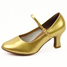 De mujer Cuero Tacones Salón Sala de Baile con Hebilla Zapatos de danza