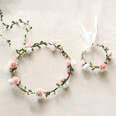 Lovely Single Flower Round Cloth Flower Sets - Wrist Corsage/Headdress Flower