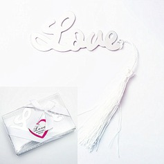Kärlek Konstruktion Metall Bokmärken med Färgband