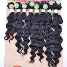 Profond cheveux synthétiques Tissage en cheveux humains 8PCS 200g