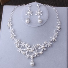 Gorgeous Alloy Imitation Pearls Women's Jewelry Sets (137132074)