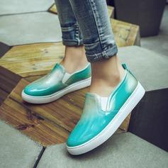 Frauen Microfaser Leder Flascher Absatz Flache Schuhe mit Andere Schuhe