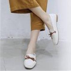 Femmes PU Talon bas Chaussures plates Mary Jane أحذية