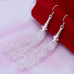 Chic Silver Plated Copper Ladies' Fashion Earrings