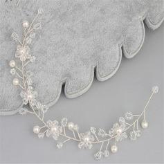 Glamorøse Crystal/Imitert Perle Pannebånd (Selges i ett stykke)