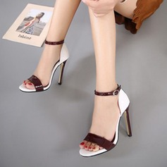 Women's Leatherette Stiletto Heel Sandals Flats Peep Toe With Others shoes