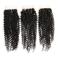 "4""*4"" 4A Non remy Kinky Curly Human Hair Closure (Sold in a single piece) 40g"