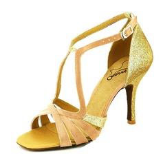 Kvinnor Glittrande Glitter Klackar Sandaler Latin med Spänne Dansskor