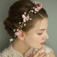 Bayan Muhteşem Ipek Çiçek Headbands Ile Venedik İnci/Kristal (Tek parça Satılan)
