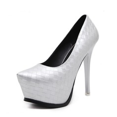 Women's PU Stiletto Heel Sandals Pumps Platform Peep Toe With Others shoes