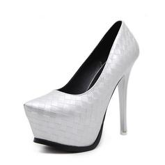 Kvinnor PU Stilettklack Sandaler Pumps Plattform Stängt Toe med Andra skor