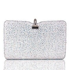 Elegant Silke/Kristall/Strass Grepp/Minaudiere